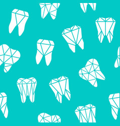 seamless background with symbols of teeth vector image vector image