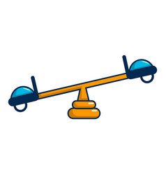see saw icon cartoon style vector image