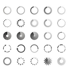 set of loading status icons vector image vector image