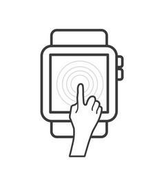 smartwatch device icon vector image vector image