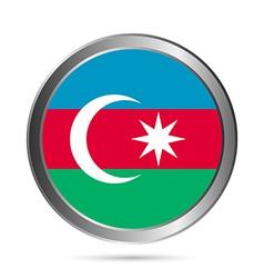 Azerbaijan flag button vector image vector image