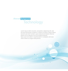 blue technoplogy background vector image vector image