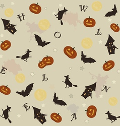 cute halloween background vector image vector image