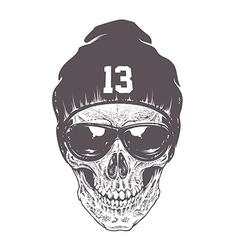 Dotwork skull Art vector image vector image