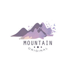 mountain original logo tourism hiking and vector image vector image