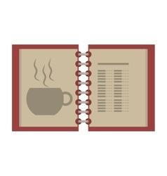open menu restaurant of beverage vector image