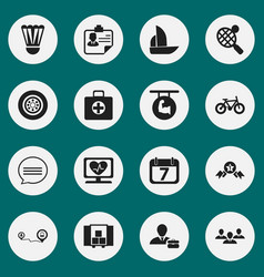 Set of 16 editable complicated icons includes vector