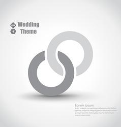 Wedding theme vector image