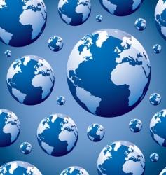 world globe seamless vector image vector image