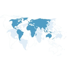 World map - Continents vector image vector image