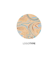 abstract marble logo brand company design vector image vector image