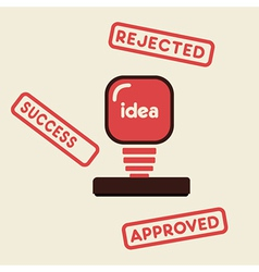 approved rejected success stamp vector image