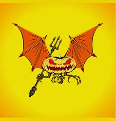 bat halloween logo vector image vector image