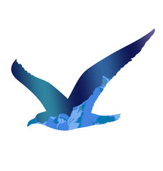 flying seagull silhouette concept vector image vector image
