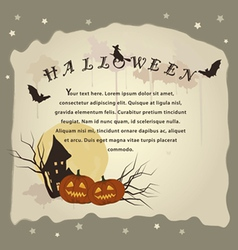 halloween background for invitation cards vector image vector image