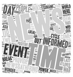How Much News Is Good News text background vector image vector image