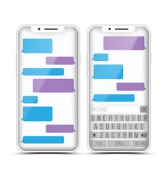 messenger speech bubbles phone chat vector image
