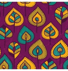 Seamless pattern with stylized leaves vector image vector image