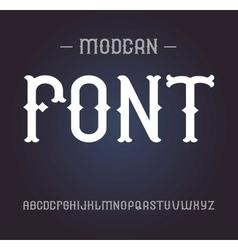 vintage label font elegant alphabet vector image