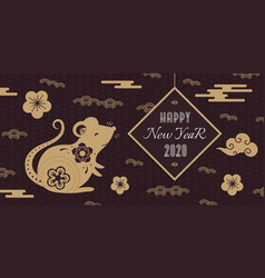 2020 chinese new year celebration banner vector image