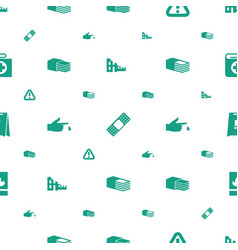 Accident icons pattern seamless white background vector