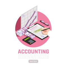 Accounting isometric design concept vector