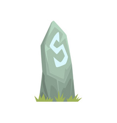Ancient grey tombstone vector