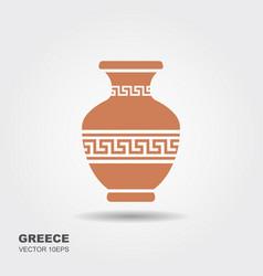 Antique greek vase vector