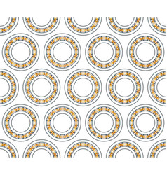 ball bearing pattern vector image