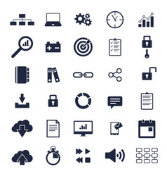 basic icons vector image