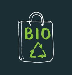 Bio lettering label calligraphic hand drawn eco vector