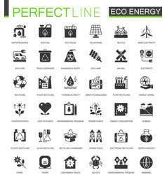 Black classic eco renewable energy green vector