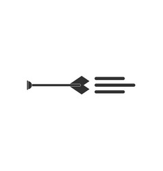 Black icon on white background bow arrow vector
