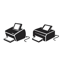 black Printer vector image