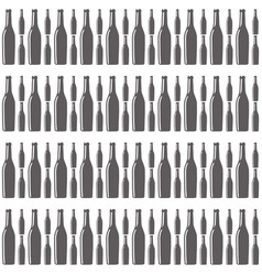 bottles wine seamless pattern design vector image
