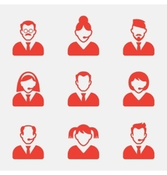 Business people avatar icons vector image