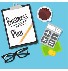 Business planning banner vector