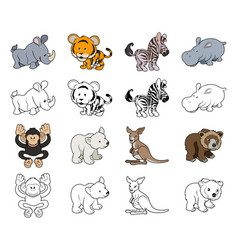 Cartoon wild animal vector