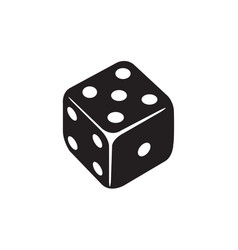 casino dice icon in flat style icon for apps ui vector image