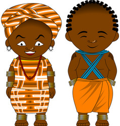 Cheerful african couple vector