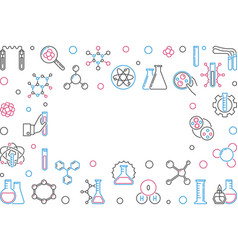 Chemistry line creative frame with empty vector