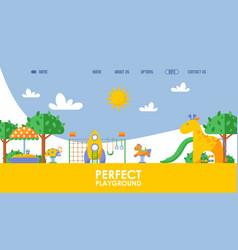 Children playground website vector