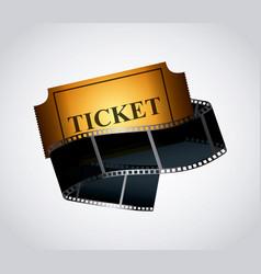 Cinema ticket icon vector
