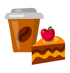 coffee and tart vector image