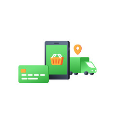 Concept of e-commerce vector