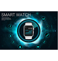concept of smart watches vector image