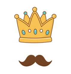 crown and moustache vector image