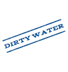 Dirty Water Watermark Stamp vector