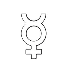 Doodle transgender mercury symbol vector