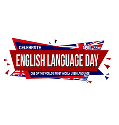 english language day banner design vector image